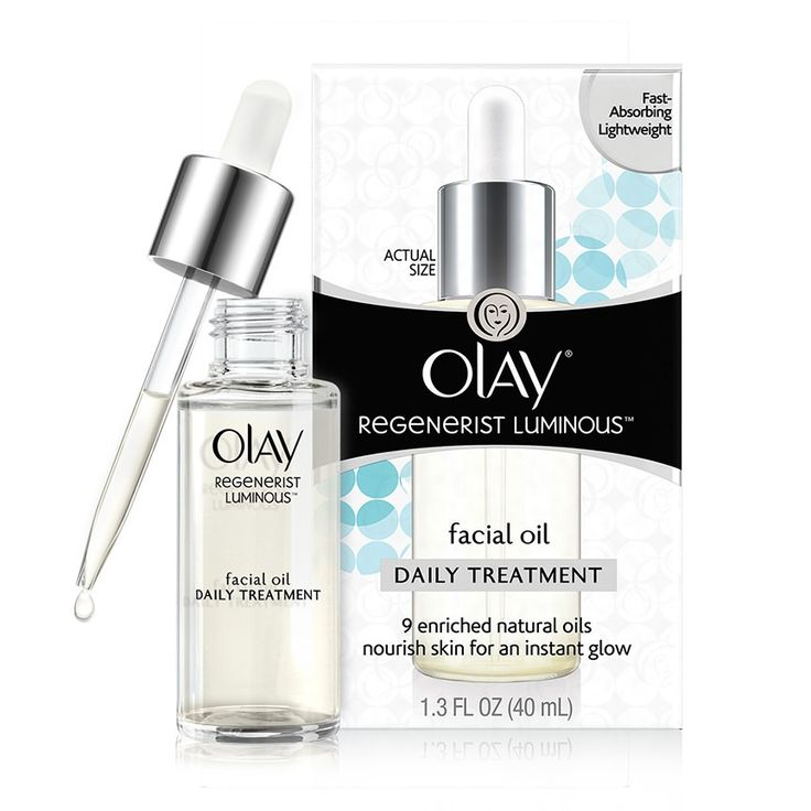 Olay Regenerist Luminous Facial Oil hydrates skin to reveal an instant, luminous glow with 9 enriched natural oils that instantly nourish dull, dry skin.