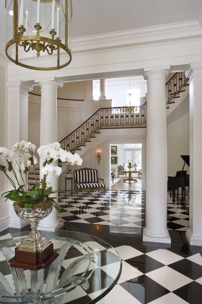 black and white diamond flooring