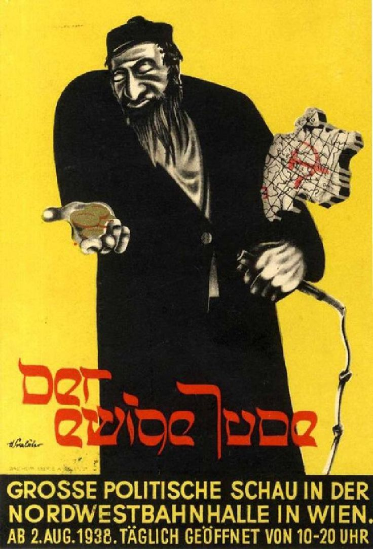 """A Postcard from the """"Eternal Jew"""" Exhibition - Vienna,"""