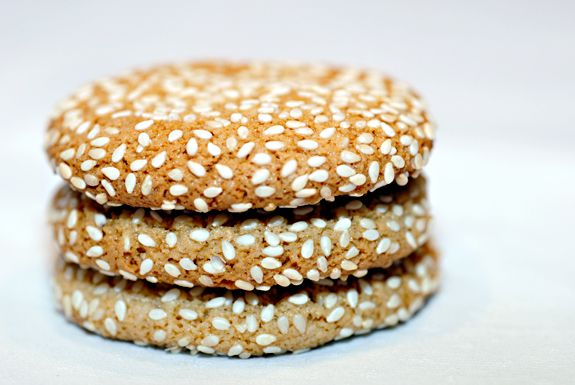 grain-free sesame cookies (use in place of peanut butter cookies)