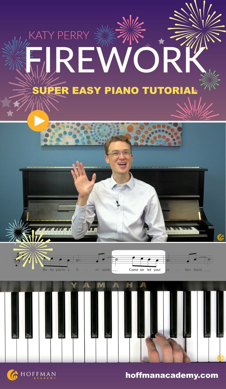 Get ready for Independence Day by learning to play Firework by Katy Perry (easy piano tutorial)