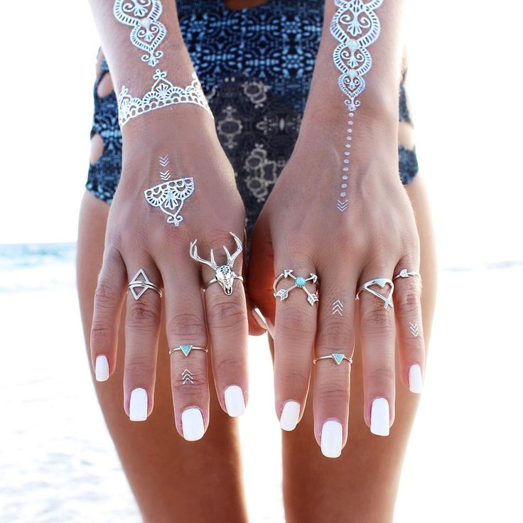 On the blog today - Mood Board: White.  #nails #manicure #tattoos #flash #silver #gypsy #beach #boho #bohemian #tribal