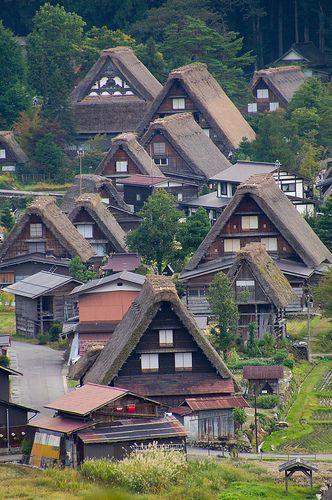 合掌造り、白川郷、岐阜/ gassyo style houses, shirakawa-go, Gifu