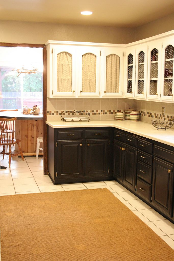 chicken wire white cabinets on top black on i want the look wonder if i could pull this off in my kitchen