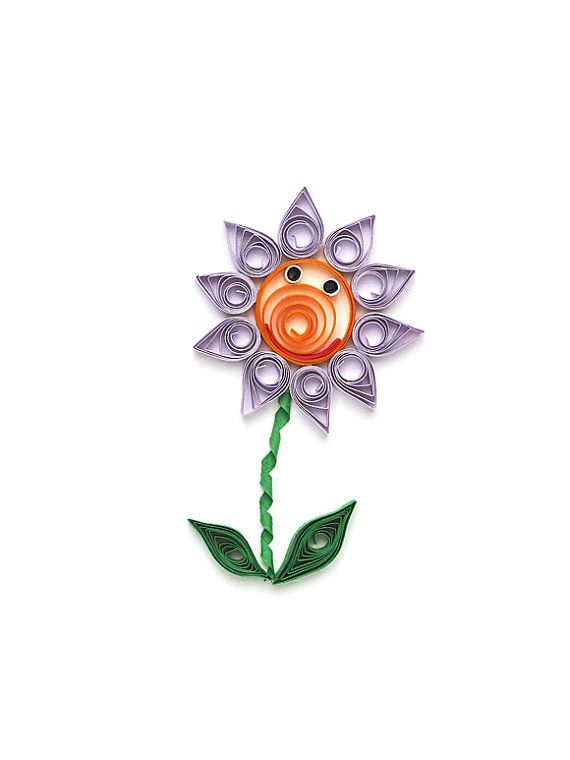 Paper quilling Friendship card  handmade flower by szalonaisa, $8.00