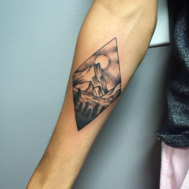 Pinterest Mountain Henna Tattoo Pics: Double Diamond Mountain Tattoo.