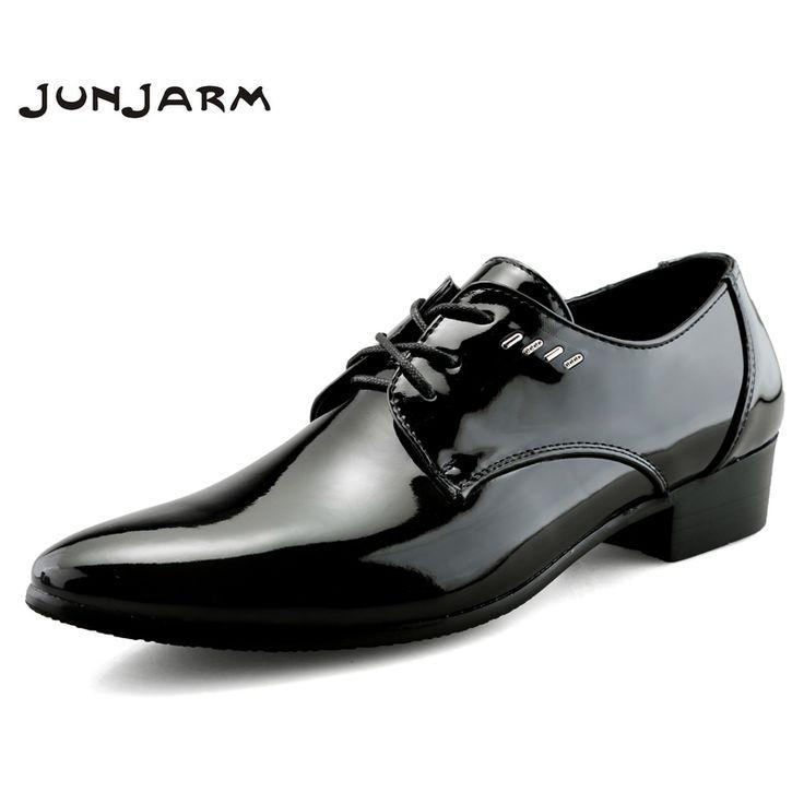 Hommes Chaussures PU Printemps Automne Plat Mocassins Chaussures Formelles Bout Pointu Robe de Soirée de Mariage Noir, Argent, Or (Color : Gold, Taille : 42)