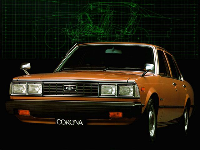 1980' Toyota Corona 1600 - Dad owned this one after the huge American car and Celica