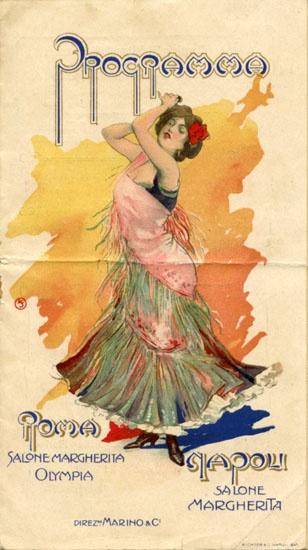 Programma del Salone Margherita di Napoli, domenica 20 dicembre 1908.