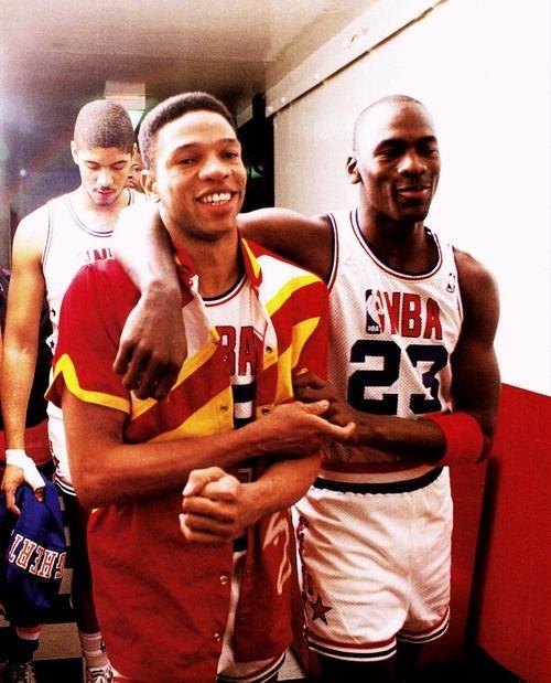 Doc Rivers & Michael Jordan