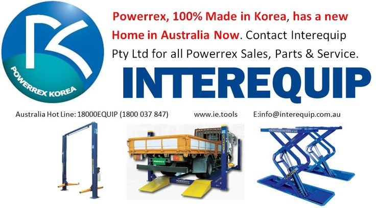 Now buy POWERREX lifts and hoist made in Korea in Australia. You can place your order at Interequip.