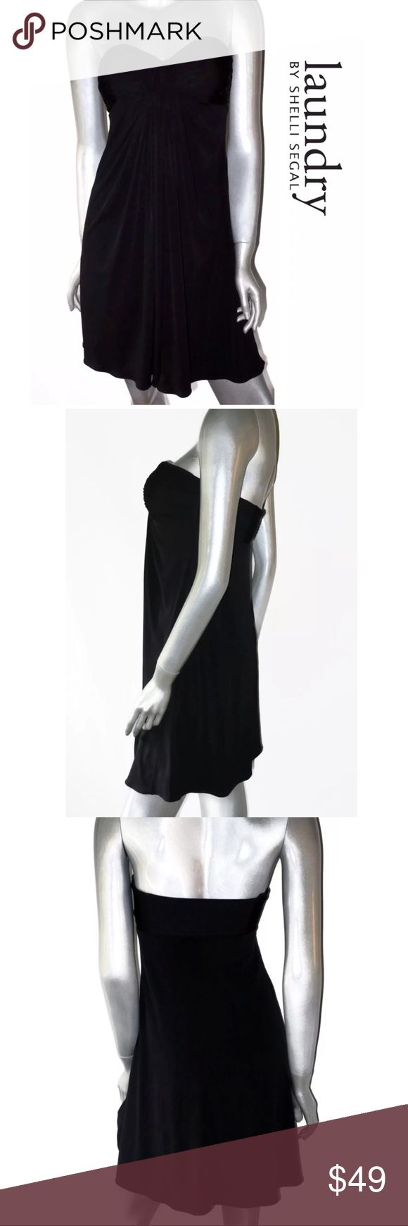 "Laundry Shelli Segal Little Black Cocktail Dress Laundry By Shelli Segal Little Black Cocktail Dress. Womens Sz: 6  Measurements Lying Flat: Armpit to armpit- 16"" Length- 30""  Condition: Nice shape, super sexy. Pre-owned.  ALL ITEMS COME FROM A SMOKE-FREE HOME Laundry by Shelli Segal Dresses Strapless"