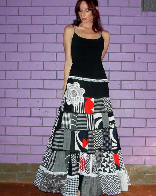 roupas-de-patchwork-saia-preto-branco(7)