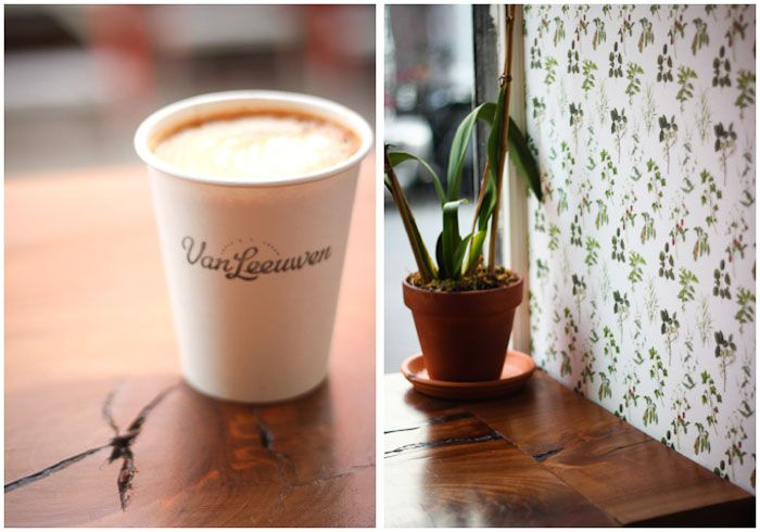 Van Leeuwen is a beautiful cafe in the East Village that in addition to ice cream, serves up some delicious pastries and excellent coffee.
