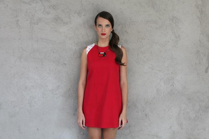 www.frantorres.com  polka dot, mondrian , red , dress