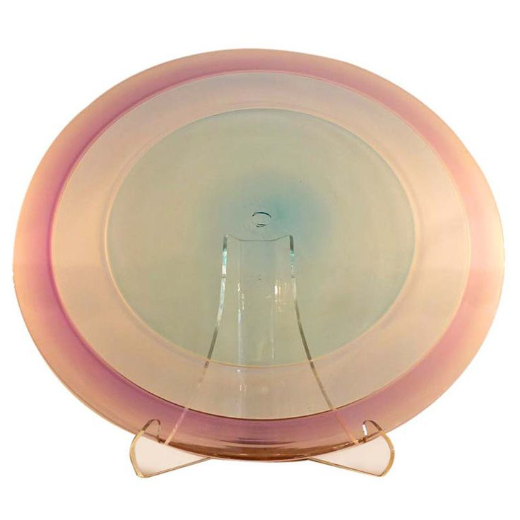 Large Scale Mouth-Blown Lavender Glass Charger | From a unique collection of antique and modern platters and serveware at https://www.1stdibs.com/furniture/dining-entertaining/platters-serveware/