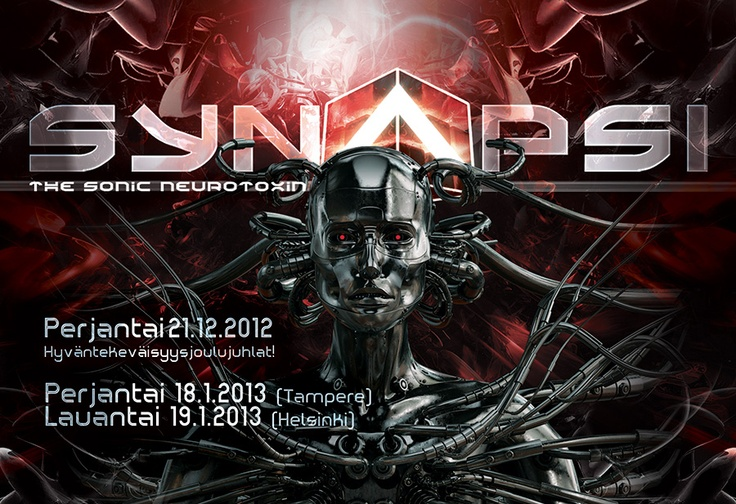 SYNAPSI is a regular club event concentrating on EBM-industrial-gothic-synth-darktrance-elektro-wave-music