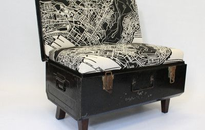 Suitcases given a new life as gorgeous couches. www.shazzarazza.com