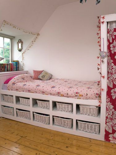 Use the space under the bed for kids stuff or place outfits labeled m-f for school ..this would be a time-saver & space-saver!