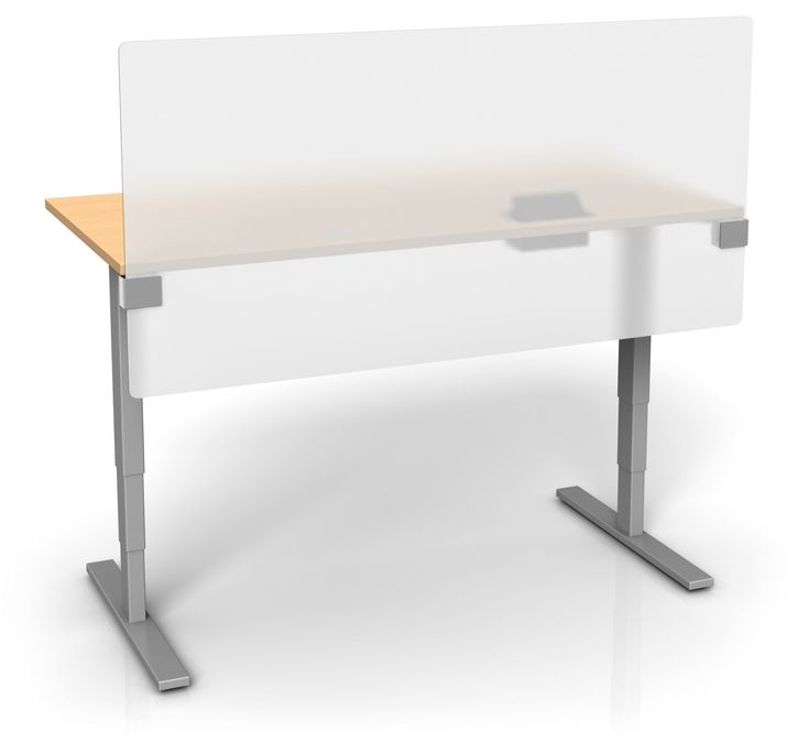 UPTOWN PANEL - FROSTED ACRYLIC HEIGHT ADJUSTABLE DESK DIVIDER