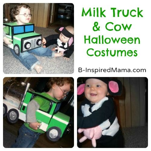 Milk Truck and Cow Handmade Halloween Costumes - OMG! This would be perfect if I had two kids!!