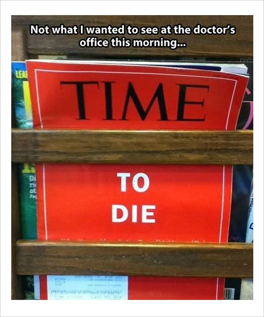 Lol - Lol! Good thing that's not at our office. We would have a lot of panicked clients.