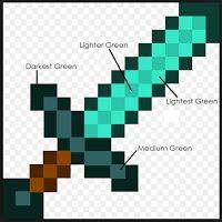 Seriously..I think it needs stitches.: Minecraft Quilt Bonus Blocks: Sword & Shulker