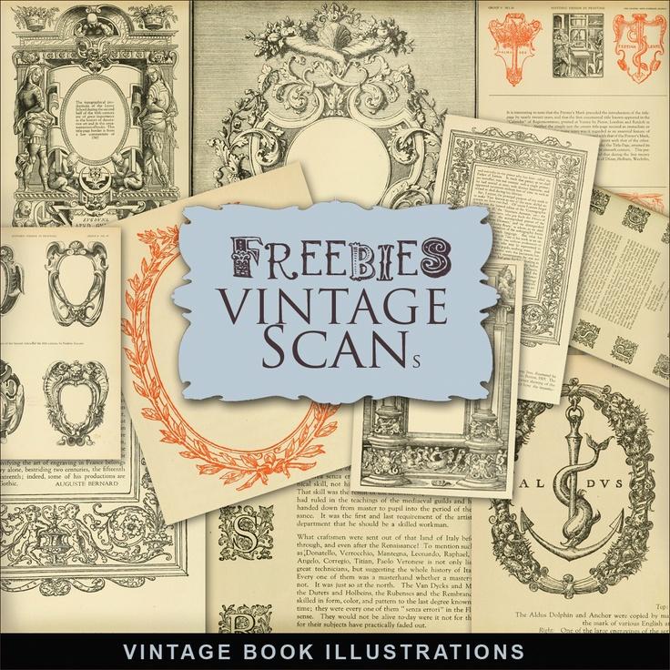 Far Far Hill: Freebies Kit of Vintage Book Illustrations