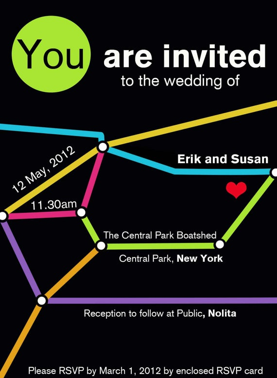 Ny Subway Map Seating Card.Ways To Use Colorful Subway Map For Invitations Place Cards Etc