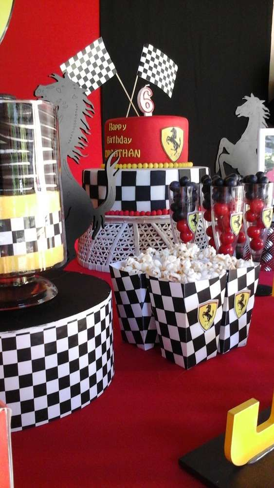 Ferrari birthday party snacks! See more party planning ideas at CatchMyParty.com!