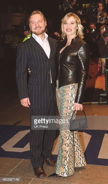 Kate Winslet, and husband Jim Threapleton attend the Premiere of, Holy Smoke,in London's West End, on March 21, 2000 in London, England.