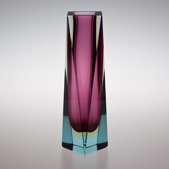 talisman an large twisted murano sommerso glass vase. Black Bedroom Furniture Sets. Home Design Ideas