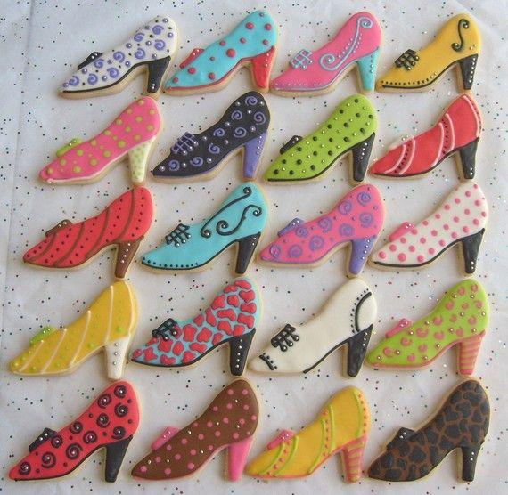 DIVA SHOES - Shoe Decorated Cookies - Shoe Decorated Cookie Favors - 1 dozen