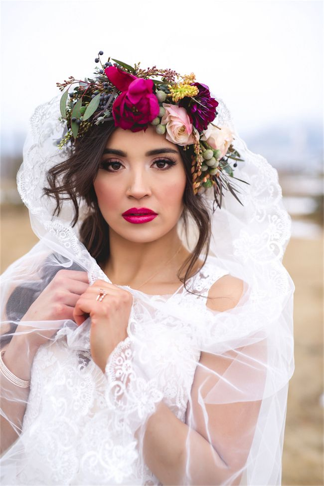 Lips, eyes, floral crown...sigh.
