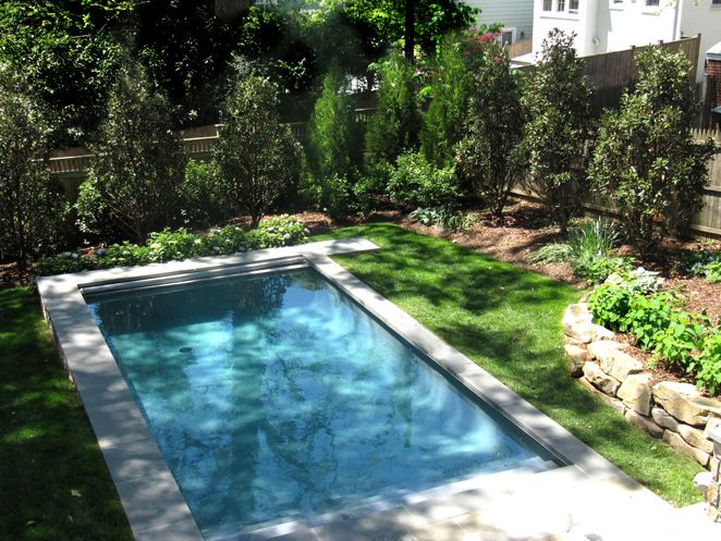 20 best images about pools on pinterest ontario the for Pool design sloped yard