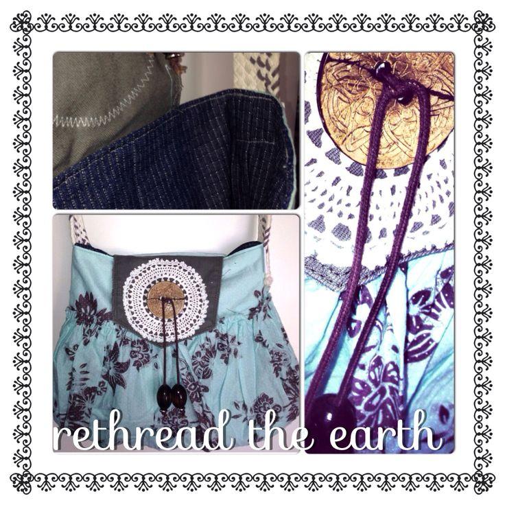 Gorgeous upcycled handbag by rethread the earth  Facebook.com/rethreadtheearthbyeiwozdesign
