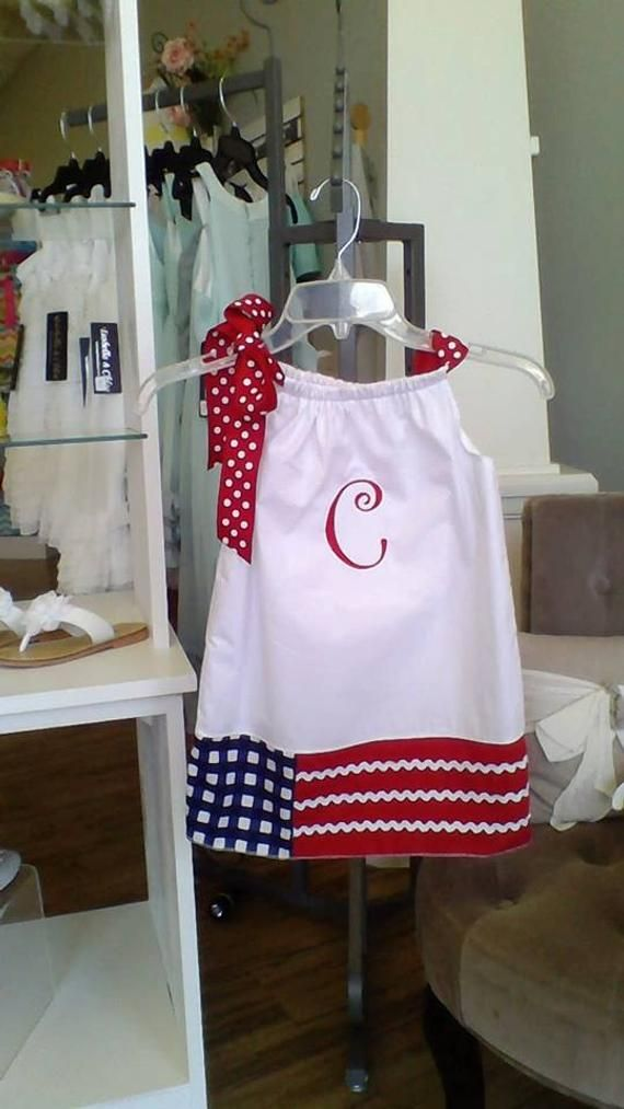 4th of July dress, Patriotic flag dress, Military army, pillowcase dress, baby dress, toddler, girl,
