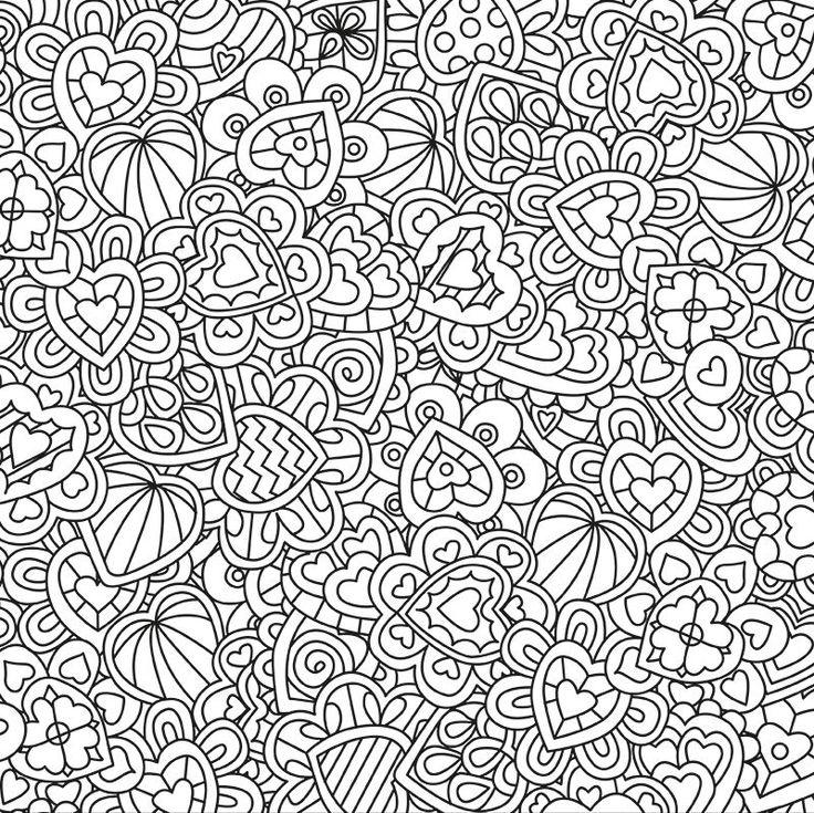 Рисунки антистресс легкие