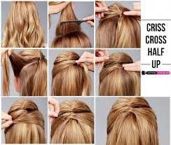 Image result for how to make a half updo with medium hair #promhairupdotutorial