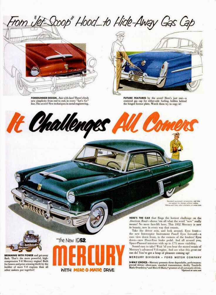 1952 mercury frenching came on strong for the redesigned 1952