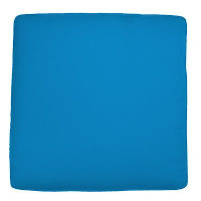 "Wayfair Custom Outdoor Cushions Knife Edge Outdoor Square Ottoman Cushion Fabric: Fresco Royal Blue, Width: 26"", Depth: 23"""