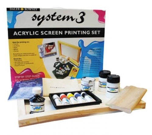 Art Shed Online - Daler Rowney System 3 (Waterbased) Screen Printing Kit, $159.95 (http://www.artshedonline.com.au/daler-rowney-system-3-waterbased-screen-printing-kit/)
