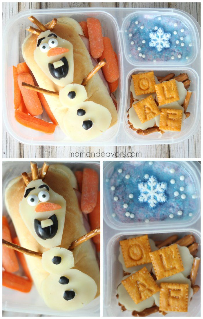 'Frozen' School Lunch Idea by @momendeavors #lunch #recipe