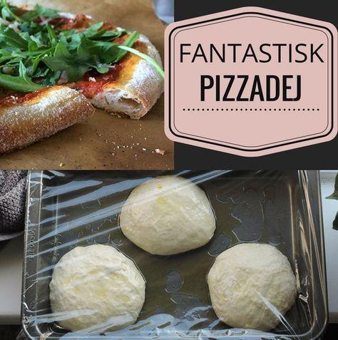 Pizzaerne bliver helt perfekt sprøde, tynde og luftige med den her opskrift på langtidshævet pizzadej. Det er ventetiden værd.