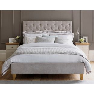 Schreiber Portisham Upholstered Superking Bedframe Grey At Argos Co Uk Visit