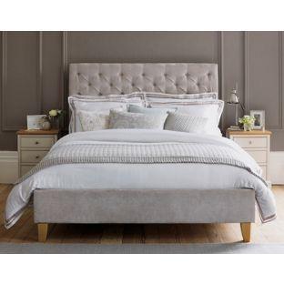 Buy Schreiber Portisham Upholstered Superking Bedframe - Grey at Argos.co.uk, visit Argos.co.uk to shop online for Bed frames
