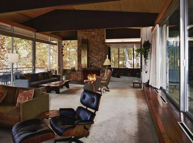 richard neutra - pitcairn mid-century house - living