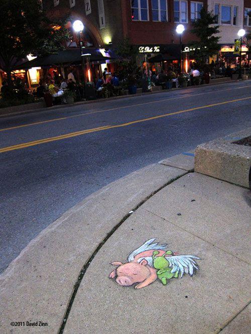 No night owls (Ann Arbor 2011) by David Zinn