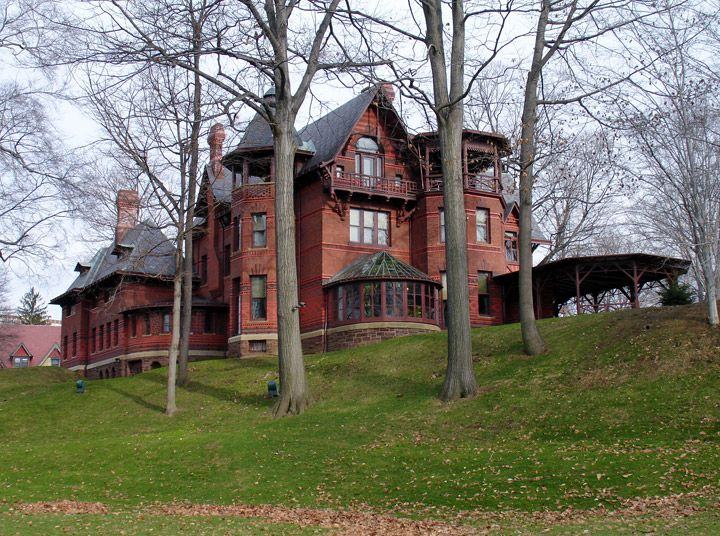Mark Twain's Mansion in Hartford, Connecticut