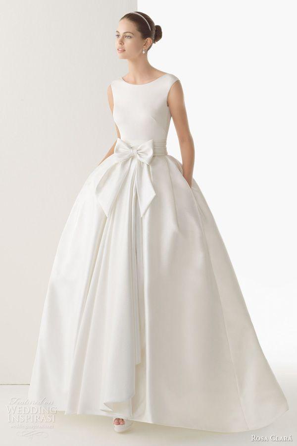rosa clara bridal 2014 cordoba silk knit rustic silk skirt ball gown